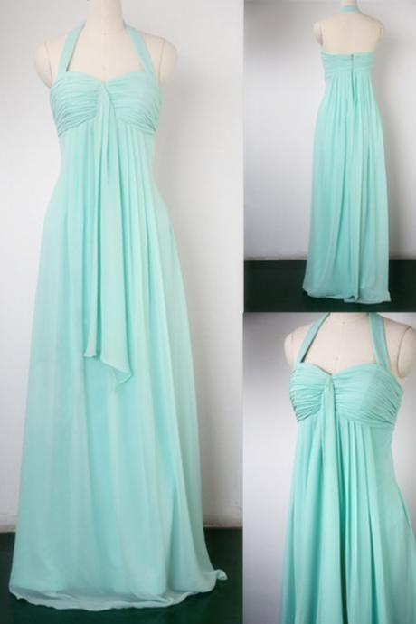 New Arrival Simple And Elegant Bridesmaid Dress,Halter Bridesmaid Dresses,Cheap Chiffon Bridesmaid Dress,Evening Bridesmaid Dress,Bridesmaid Dress For Wedding