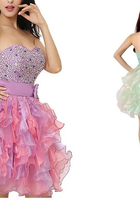 Homecoming Dress,Short Prom Dresses,Tulle Homecoming Gowns,Fitted Party Dress,Beading Prom Dresses,Sparkly Cocktail Dress,Homecoming Gown