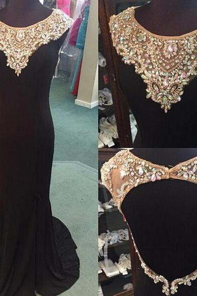 Black Prom Dresses,Backless Prom Dress,Chiffon Prom Dress,Prom Dresses, Formal Gown,Open Back Evening Gowns,Open Backs Party Dress,Prom Gown For Teens
