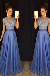Lace Prom Dresses,Blue Prom Dress,Modest Prom Gown,A Line Prom Gown,Lace Evening Dress,Cap Sleeves Evening Gowns,Lace Party Gowns