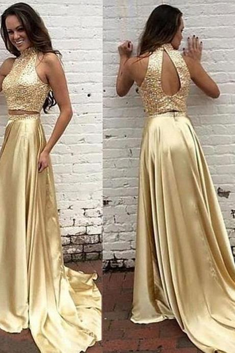 2 piece Prom Dresses,2 Piece Prom Gown,Two Piece Prom Dresses,Prom Dresses,New Style Prom Gown,2016 Prom Dress,Prom Gowns