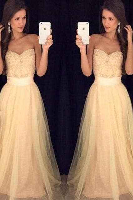 Champagne Prom Dresses,Charming Evening Dress,Champagne Prom Gowns,Champagne Prom Dresses,2016 New Prom Gowns,Champagne Evening Gown