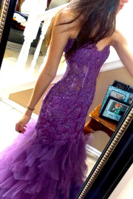 Grape Prom Dress,Mermaid Prom Dress,Prom Gown,Prom Dresses,Sexy Evening Gowns,Evening Gown,Party Dress,Modest Formal Gowns For Teens