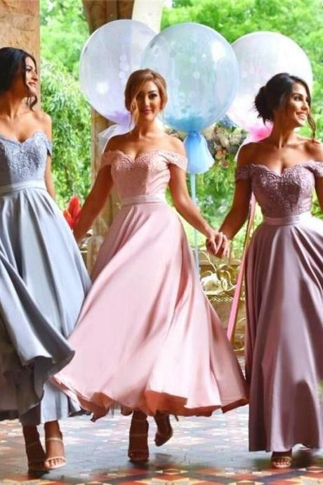 Prom Dresses,Evening Dress,Off Shoulder Sexy Bridesmaid Dress,Beautiful Custom bridesmaid dress, Wedding Party Dresses,Long Bridal Gowns