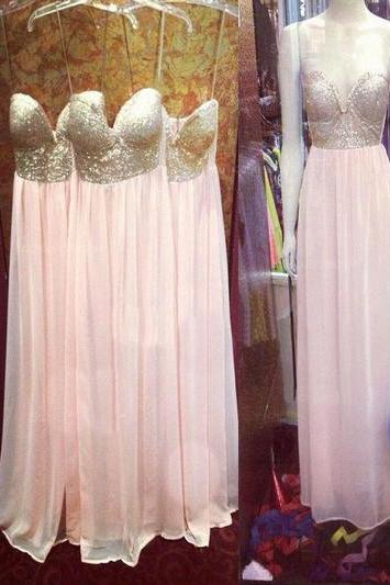 Prom Dresses,Evening Dress,long bridesmaid dress,sweetheart bridesmaid dress ,Spaghetti Straps bridesmaid dress,chiffon bridesmaid dress,bridesmaid dresses