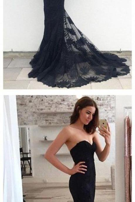 Prom Dresses,Evening Dress,Mermaid Prom Dresses,Black Lace Prom Dress,Prom dress,Modest Evening Gowns,Cheap Party Dresses,Graduation Gowns