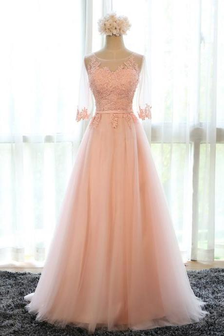 Prom Dresses,Evening Dress,pink bridesmaid dress,chiffon evening dress,long prom dress,formal dress,women's long party dress,bridesmaid dresses