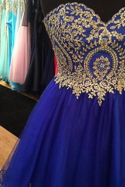 Prom Dresses,Evening Dress,royal blue homecoming dresses,short prom dresses 2017,cocktail dresses,lace appliques homecoming dresses,homecoming dresses