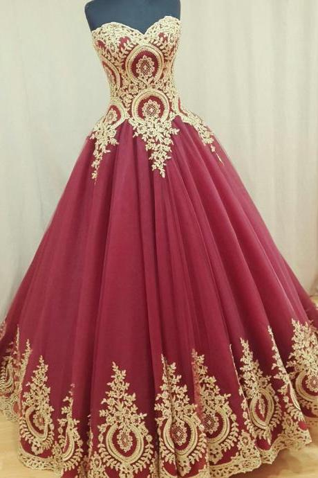 Wine Red Wedding Dress Burgundy Gowns Ball Gown Dresses Bridal