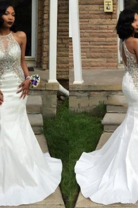 Prom Dresses,Evening Dress,Sexy Prom Dresses,White Evening Dresses,New Fashion Prom Gowns,Elegant Prom Dress,Princess Prom Dresses,White Evening Gowns,White Formal Dress,White Evening Gown