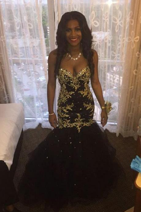 Prom Dresses,Evening Dress,Mermaid Prom Dresses,Black Prom Dress,Prom dress,Modest Evening Gowns,Cheap Party Dresses,Graduation Gowns