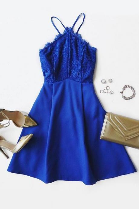 Royal Blue Homecoming Dress,Short Prom Dresses,Lace Homecoming Gowns,Fitted Party Dress,Prom Dresses,Cocktail Dress,Homecoming Dresses