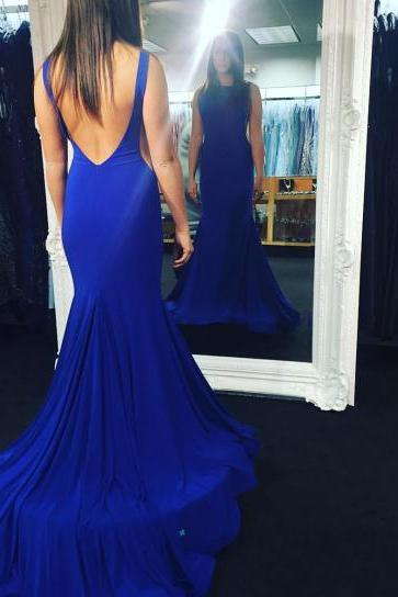Prom Dresses,Evening Dress,Backless Prom Dresses,Royal Blue Prom Dress,Backless Formal Gown,Open Back Prom Dresses,Open Backs Evening Gowns,Formal Gown For Teens
