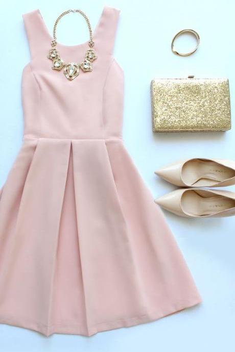 Prom Dresses,Evening Dress,Homecoming Dresses,Blush Pink Homecoming Dresses,Sweet 16 Dress,Chiffon Homecoming Dress,Cocktail Dress