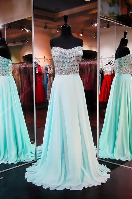 Prom Dresses,Evening Dress,Prom Dresses,Light Blue Prom Dress,New Prom Gown,Prom Dresses,Chiffion Evening Gowns,Evening Gown