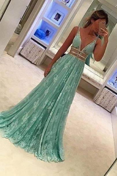 Prom Dresses,Evening Dress,Prom Dresses,Mint Green Prom Dress,lace Formal Gown,A Line Prom Dresses,Evening Gowns,Lace Formal Gown,Prom Gowns For Teens