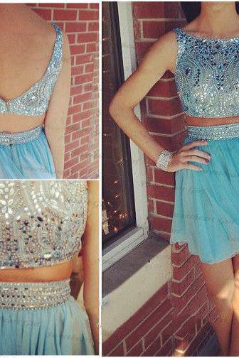 Two Piece Homecoming Dress,2 Pieces Homecoming Dresses,Homecoming Dresses