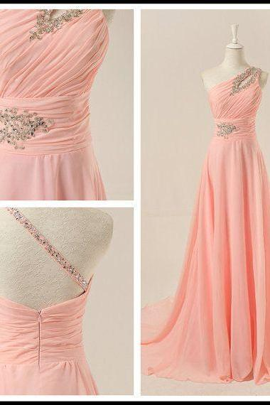Prom Dresses,Evening Dress,Prom Dresses,Prom Dress,Chiffon Prom Dress,A-Line Prom Dress,One-Shoulder Prom Dress,Long Prom Dress