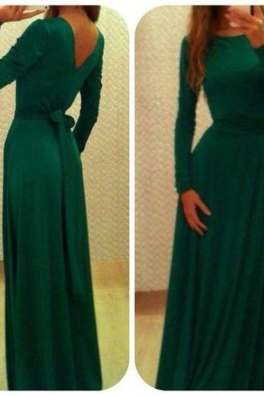 Prom Dresses,Evening Dress,Party Dresses,Long Sleeve Prom Dress,Chiffon Prom Dress,Elegant Prom Dresses