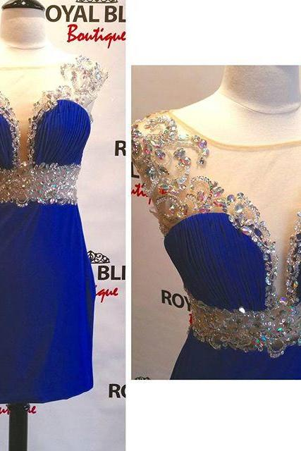 Homecoming Dresses,Royal Blue Homecoming Dress,Sparkle Homecoming Dresses,Beautiful Homecoming Gowns,Fashion Prom Gowns,Beading Sweet 16 Dress,Parties Gowns