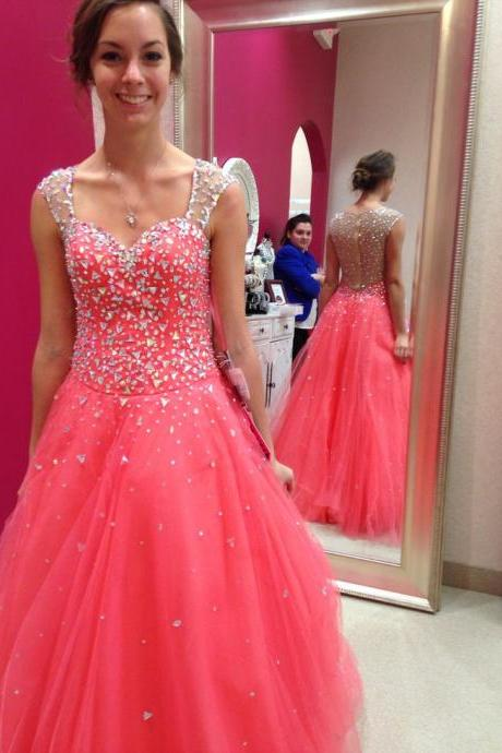 Prom Dresses,Evening Dress,Party Dresses,Prom Dresses,Tulle Prom Dresses,Princess Prom Dress,Long Prom Gown,Corset Prom Dresses,Silver Beaded Evening Dress,2017 Prom Dress
