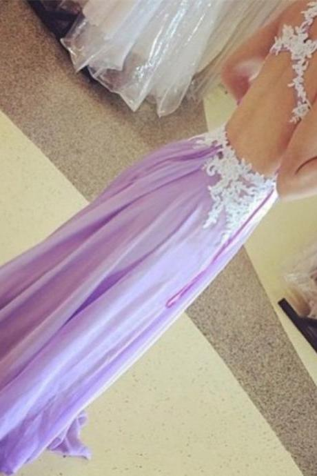 Prom Dresses,Evening Dress,Party Dresses,Lilac Prom Dresses,Vintage Prom Gown,Mermaid Evening Gowns,Lace Party Dress,Chiffon Evening Dress,2017 Prom Dress