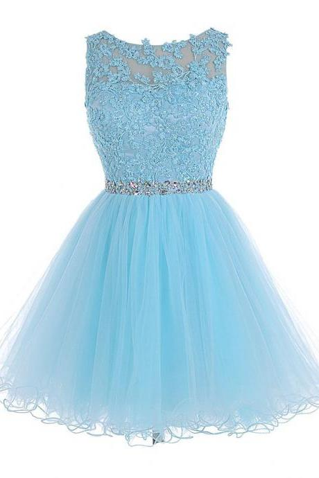 Homecoming Dresses,Tulle Homecoming Dress,Lace Homecoming Dress,Blue Homecoming Dress,Fitted Homecoming Dress,Short Prom Dress,Homecoming Gowns,Cute Sweet 16 Dress For Teens
