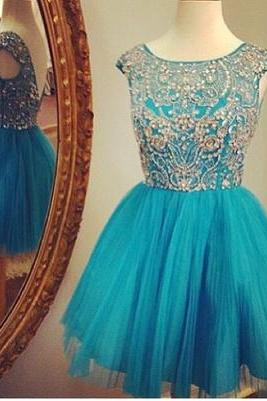 Homecoming Dresses,Blue Homecoming Dress,Short Prom Dresses,Homecoming Gowns,Fitted Party Dress,Prom Dresses,Sparkly Cocktail Dress,backless Homecoming Gown,2017 Style Glitter Evening Gowns
