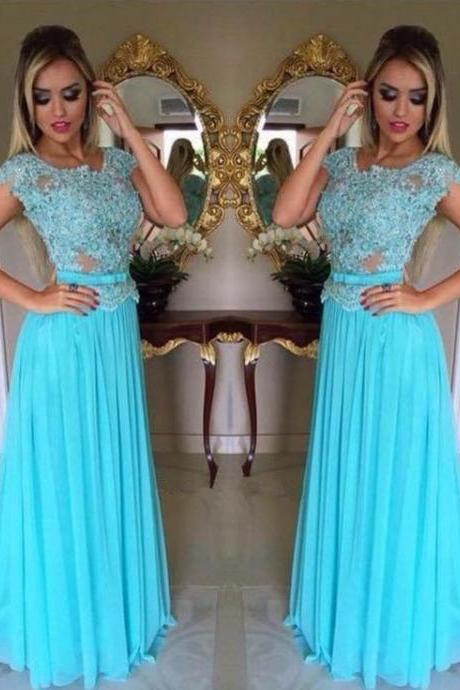 Prom Dresses,Evening Dress,Party Dresses,Lace Prom Dresses,Light Sky Blue Prom Dress,Modest Prom Gown,A Line Prom Gown,Lace Evening Dress,Chiffon Evening Gowns,Lace Party Gowns