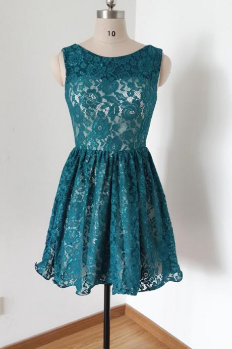 Homecoming Dresses,Charming Homecoming Dress,Lace Homecoming Dress,Bow Homecoming Dress, Short Noble Graduation Dress
