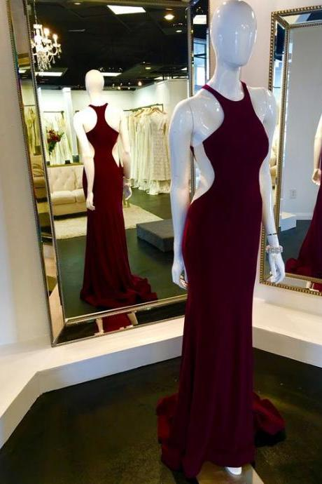 Prom Dresses,Evening Dress,Party Dresses,Wine Red Prom Dresses,Charming Evening Dress,Prom Gowns,Mermaid Prom Dresses,2017 New Prom Gown,Burgundy Evening Gown