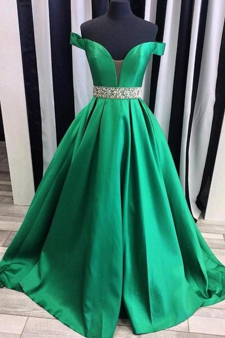 Prom Dresses,Evening Dress,Party Dresses,sexy off the shoulder satin ball gowns ,prom evening dresses ,2017 Prom Dresses