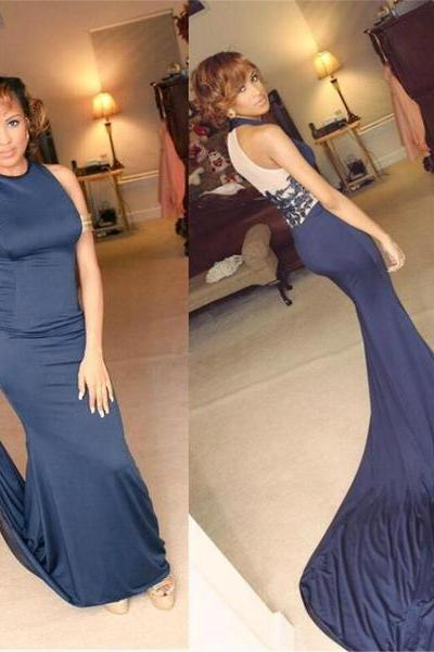 Prom Dress,Sexy Sleeveless Prom Dress,Long Train Mermaid Evening Dress,Formal Gowns,High Quality Graduation Dresses,Wedding Guest Prom Gowns, Formal Occasion Dresses,Formal Dress