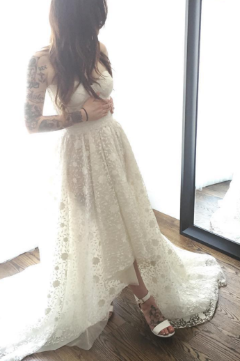 Prom Dress ,Sexy Prom Dress, white Prom Dress, Evening Dresses,Sleeveless Prom Dress,Lace Prom Dress, Prom Dresses