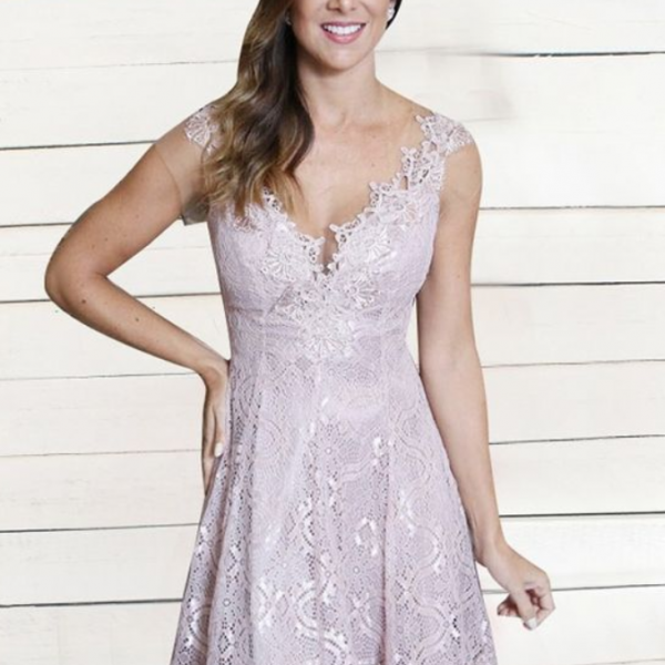 Lilac Lace Homecoming Dress, Short Prom Dress, Illusion Back Party Dress