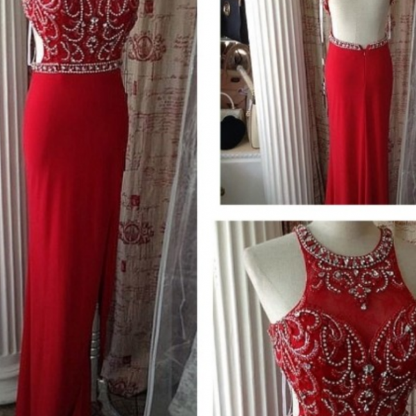 Red Prom Dresses,Open Back Prom Dress, Sparkle Party Dresses,Long Prom Gown,Open Backs Prom Dress,Evening Dress
