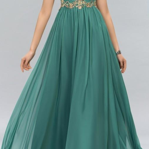 New Green Prom Dresses Halter Crystal Beads Ruffles A Line Long Modest Formal Evening Party Pageant Woman Gowns Cheap Custom Made