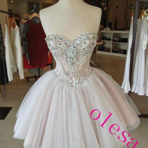 Custom Made Sweetheart Neckline Short Prom Dresses, Homecoming Dress