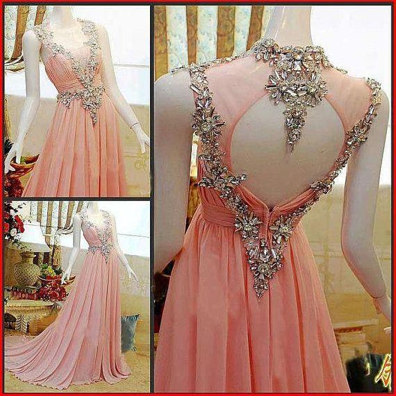 Charming evening Dress Chiffon PARTY Dress A-Line Prom Dress Strapless Prom Dress Crystal Prom Dress