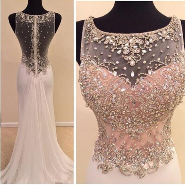 Charming EVENING Dress Beading Prom Dress Chiffon PARTY Dress High Quality Prom Dress