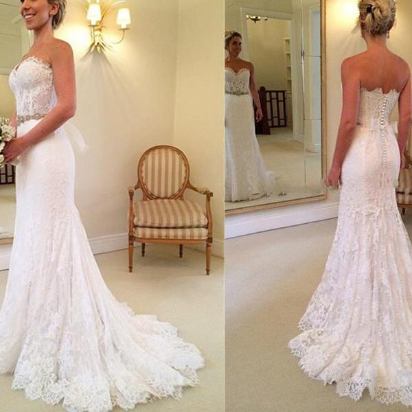 Wedding Dresses,Sweetheart Wedding Dresses,Sheath Wedding Dresses,Sexy Wedding Dresses,Long Wedding Dresses,Lace Wedding Dresses,Wedding Dress