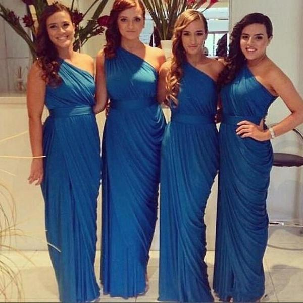 Pastel Colour Bridesmaid Dresses,Mermaid Bridesmaid Dresses,One Shoulder Bridesmaid Dresses Royal Blue Bridesmaid Dresses Modest Bridesmaid Dresses Brides Maid Honor Dresses