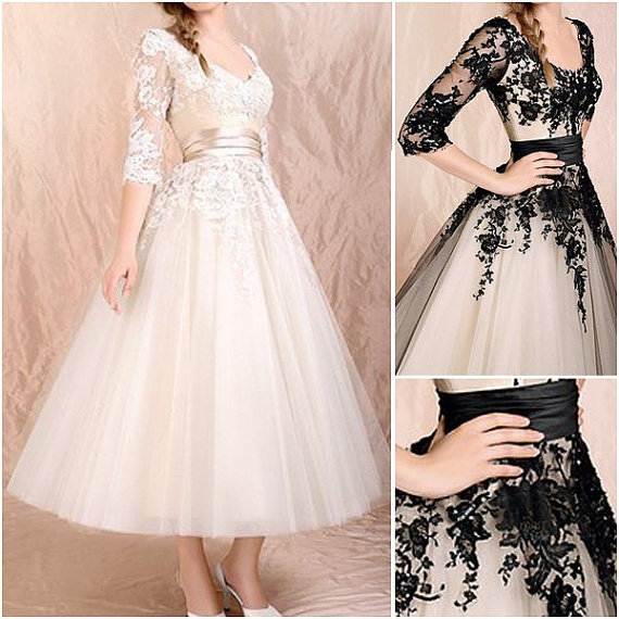 White/Black Lace O-Neck Short Graduation Dresses,Half-Sleeve Graduation Dresses,Charming Graduation Dresses, Graduation Dresses