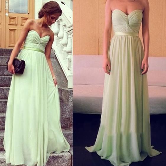 Newest Evening Dress,A-Line Evening Dress,Floor-Length Evening Dress, Prom Dress With Sashes ,Chiffon Evening Dresses