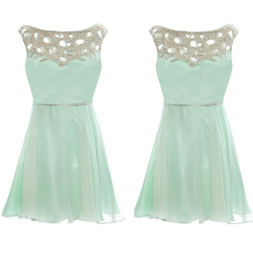 Mint Green Homecoming Dress,Chiffon Homecoming Dresses,Cheap Homecoming Gowns,Prom Dress,Short Prom Dresses,Sweet 16 Dress,Cute Homecoming Dresses For Teens