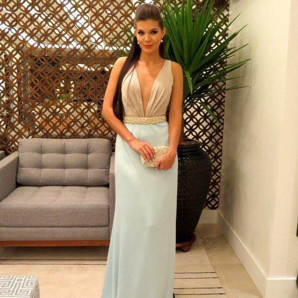 Modest Prom Dresses,Light Blue Prom Dress,Sexy Prom Gown,Simple Prom Dresses,Evening Gowns, Evening Dresses