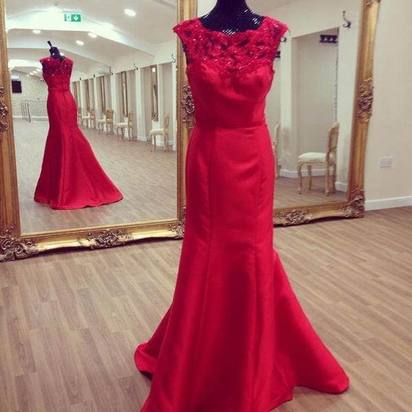 Prom Dresses,Evening Dress,Red Prom Dress,Lace Prom Gown,Lace Prom Dresses,Lace Evening Gowns,Mermaid Formal Gown,Party Dresses For Teens Girls