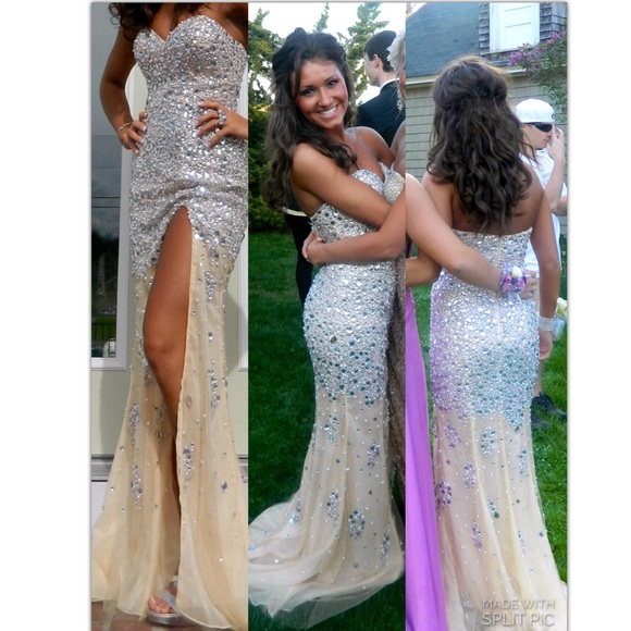 Prom Dresses,Evening Dress,Party Dresses,Mermaid Prom Dresses,Champagne Prom Dress,Slit Prom dress,Modest Evening Gowns,Elegant Party Dresses,Long Evening Gowns