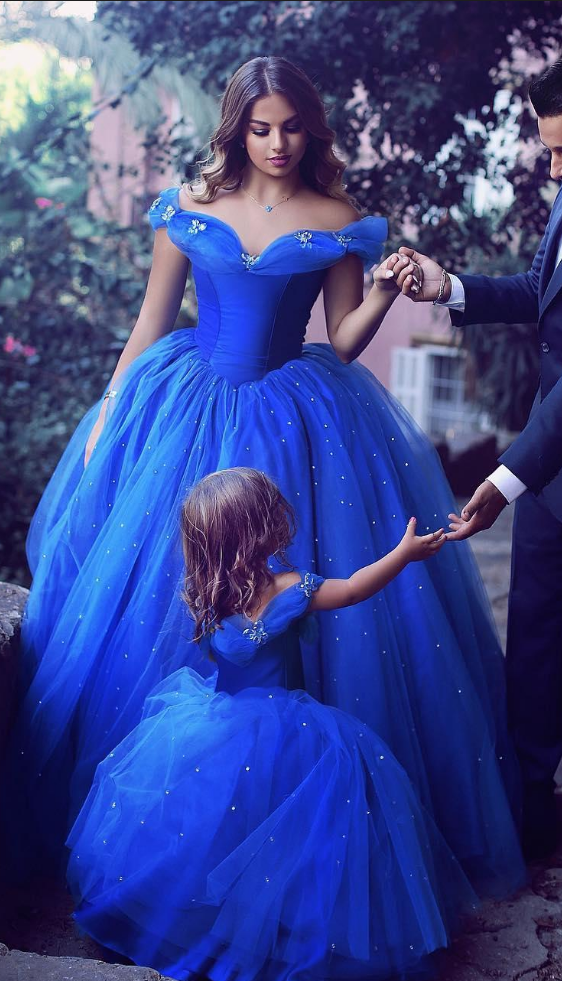 Cinderella Royal Blue Prom Dresses Ball Gown Off Shoulder Beads Butterfly  Applique Formal Evening Gowns Plus Size Pageant Dress