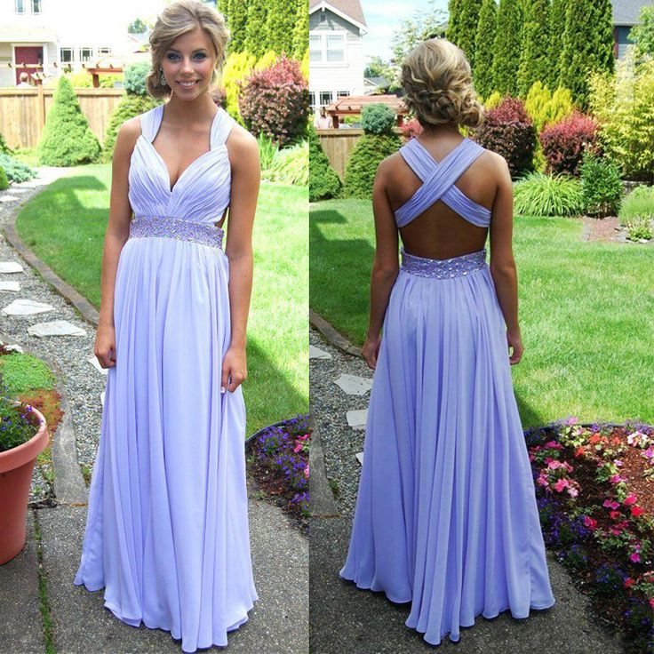 0d0acd21a1c Charming EVENING Dress V-Neck Prom Dress Chiffon PARTY Dress Backless Prom  Dress A-Line Prom Dress on Luulla